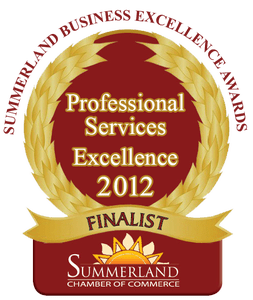 Professional Services Excellence Award 2012 - Avery Law Office of Summerland & Princeton BC