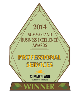 Professional Services Excellence Award 2014 - Avery Law Office of Summerland & Princeton BC