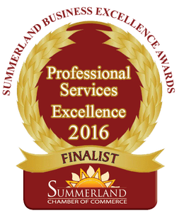 Professional Services Excellence Award 2016 - Avery Law Office of Summerland & Princeton BC